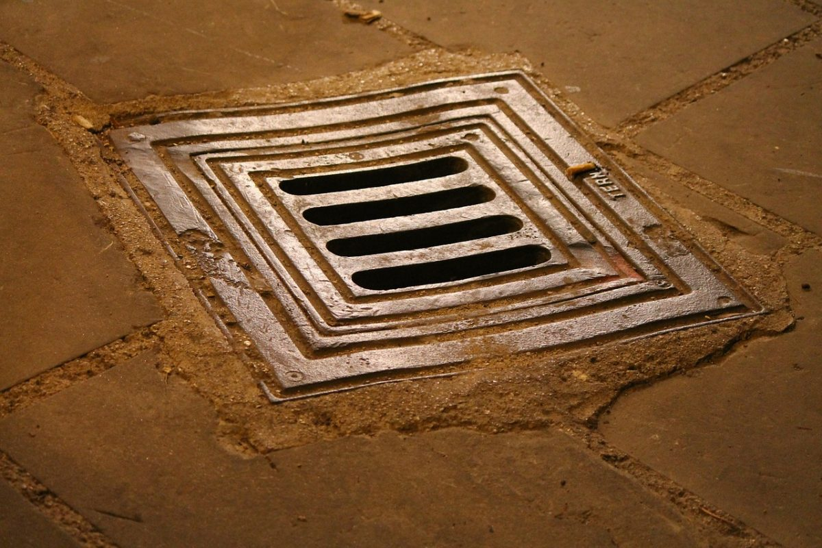 An image of a drain
