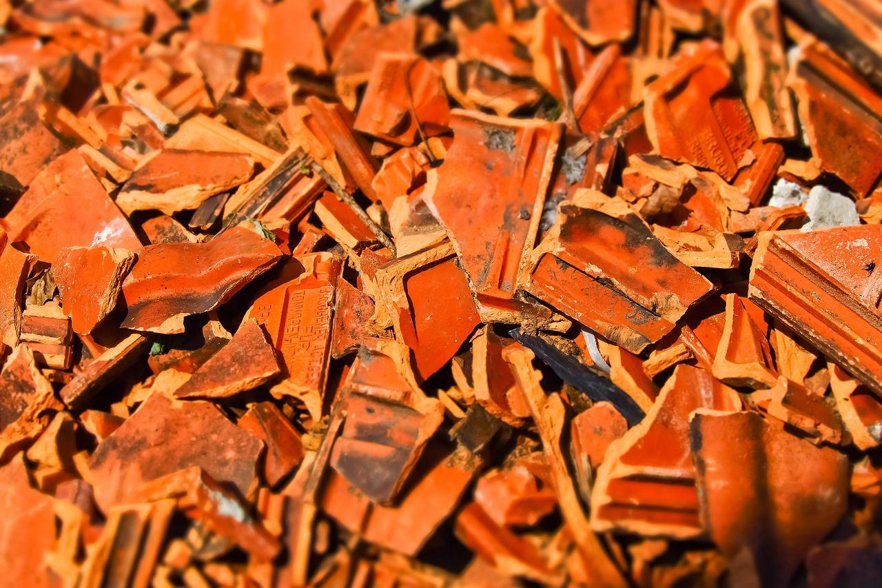 An image of broken roof tiles