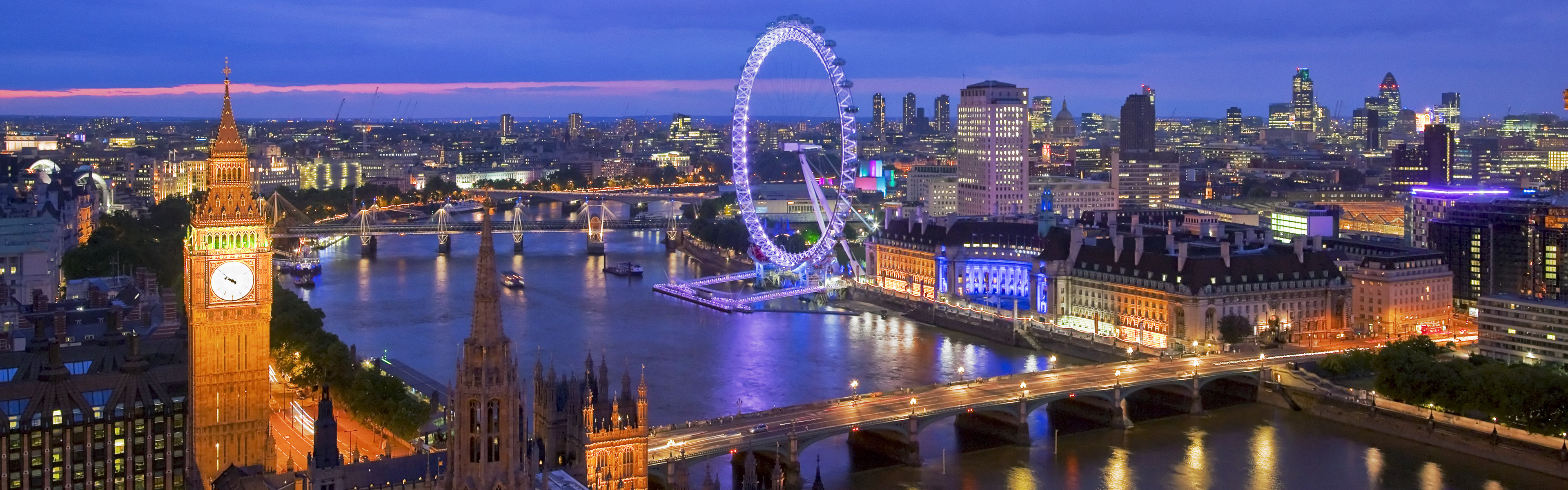 A panoramic image of London